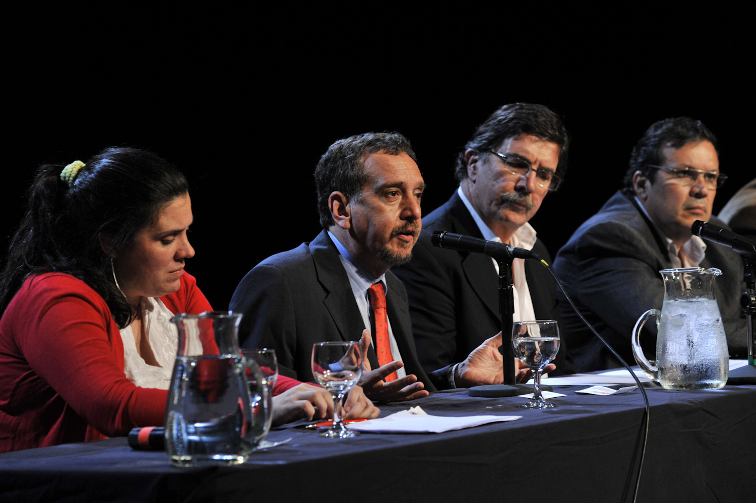Minister Barañao in the opening of the meeting